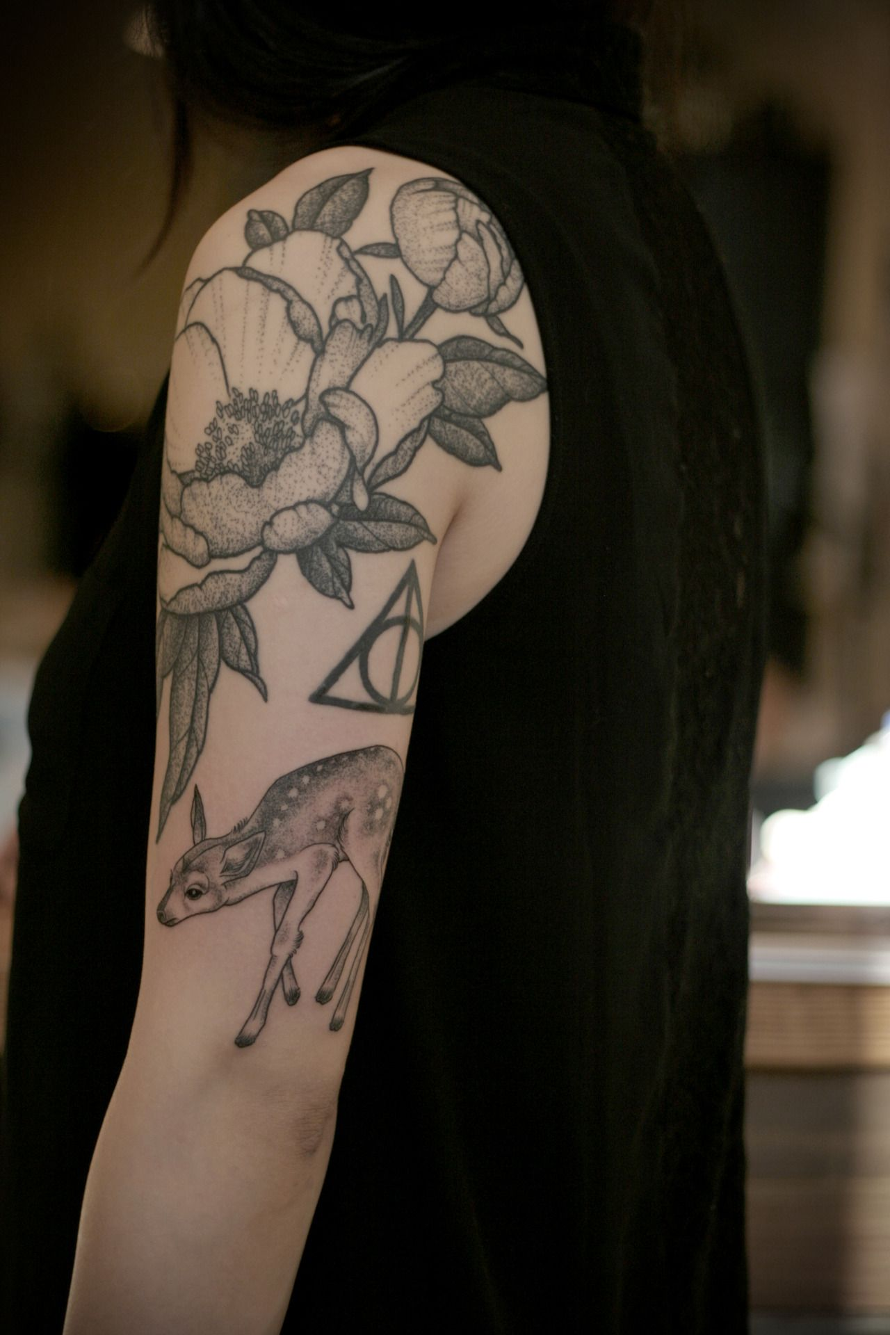 Stippling Tattoo Sleeves: This Half Sleeve Doesn't Look Like It Was All Done At The