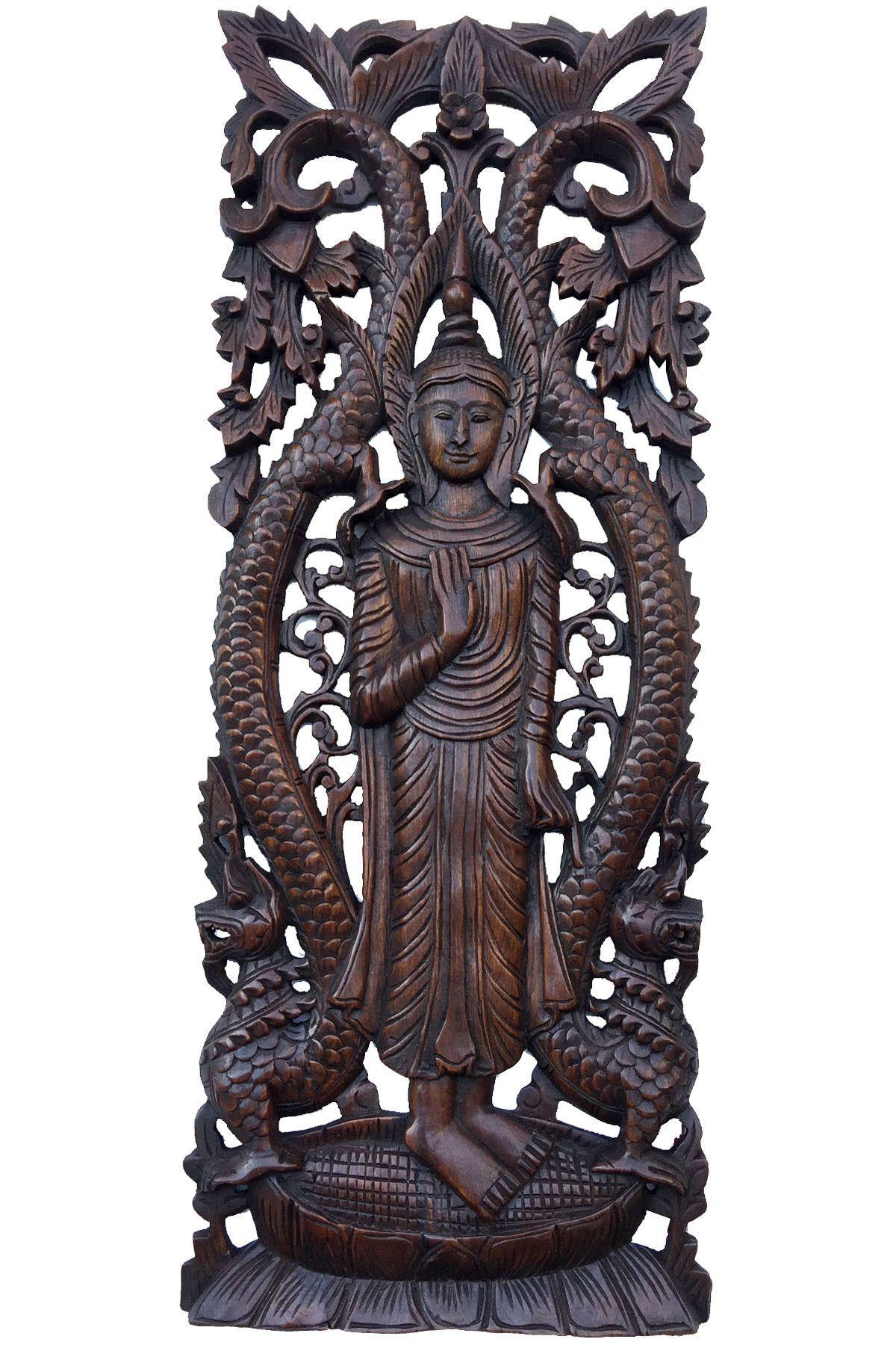 Large carved wood panel buddha wall art buddha wood wall decor