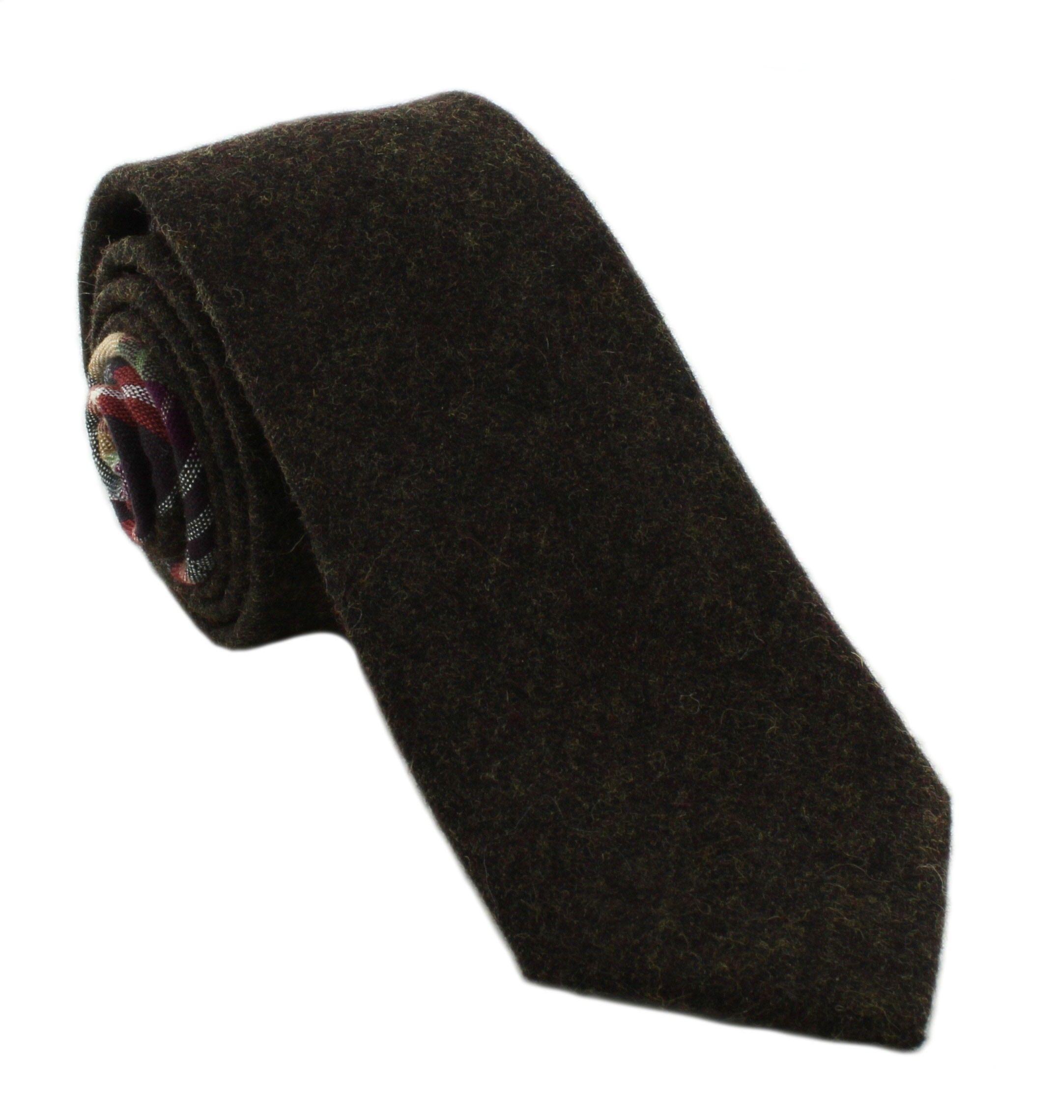 1937 London Maple Skinny Wool Mix Tie