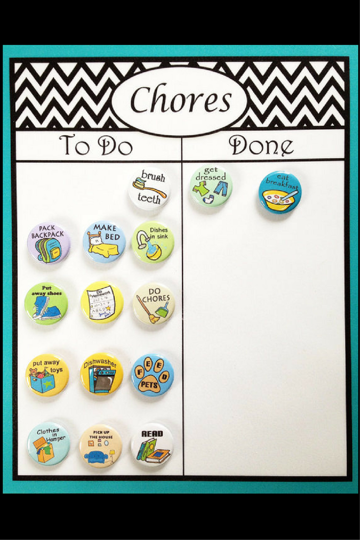 This Is Really Cute Chore Chart Chevron Design Laminated With