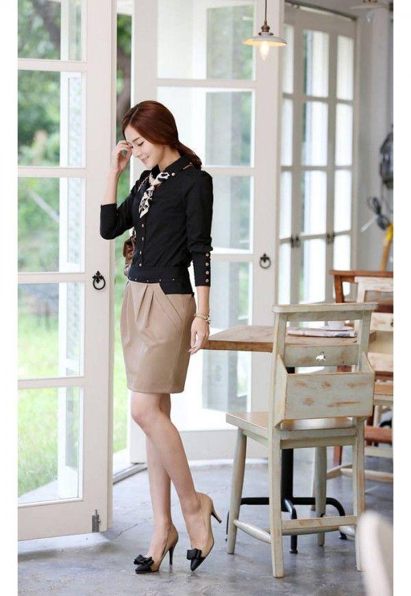 735e494057 Korean Women Career in Simple Style Dresses Fashion Trends 2013