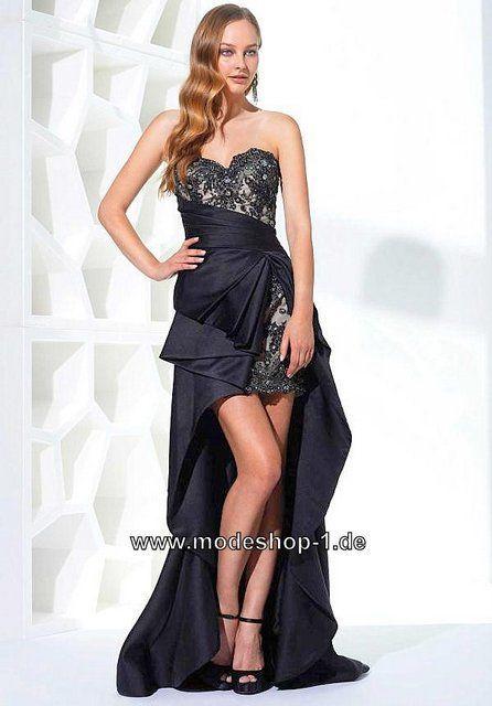 new products b0aec 2f7b9 Schwarzes Vokuhila Kleid Online in Schwarz Im Mode Shop ...