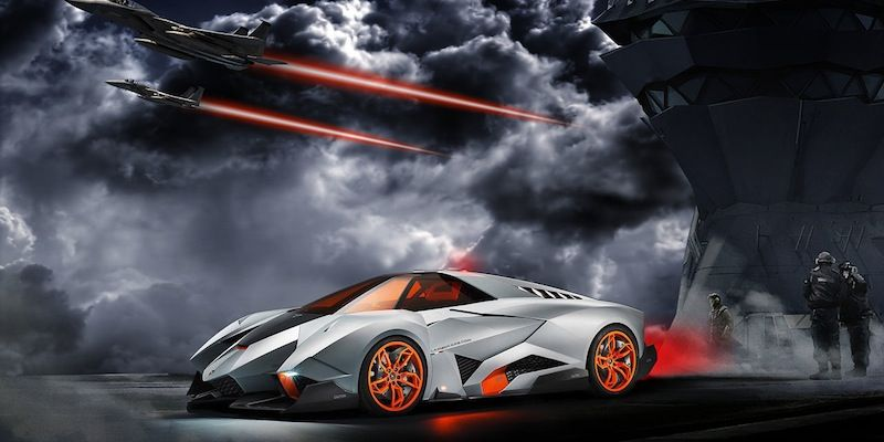 In Order To Celebrate The Companyu0027s Anniversary Lamborghini Introduces Lamborghini  Egoista, A Sports Car.