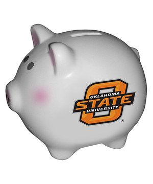 Oklahoma State Cowboys Piggy Bank by The Memory Company #zulily #zulilyfinds