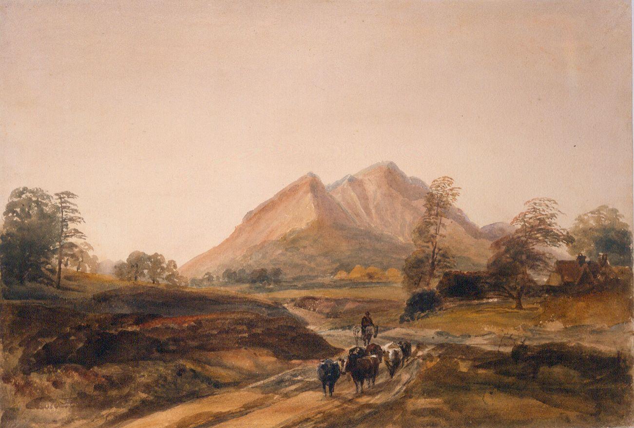 The Peak District By Peter De Wint Art Painting Art Gallery