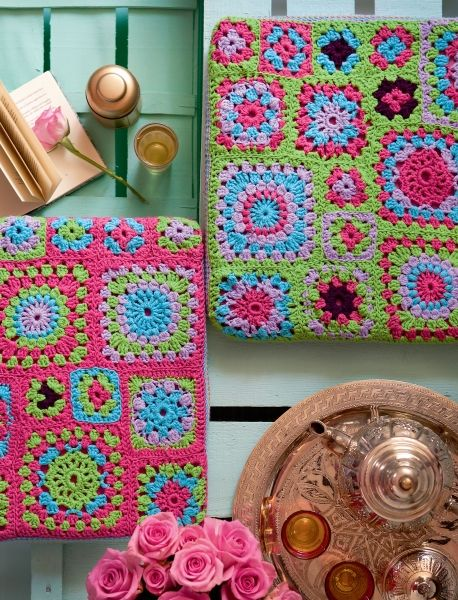 Häkeln im Quadrat   Schweizer Familie   crochet   Pinterest ...