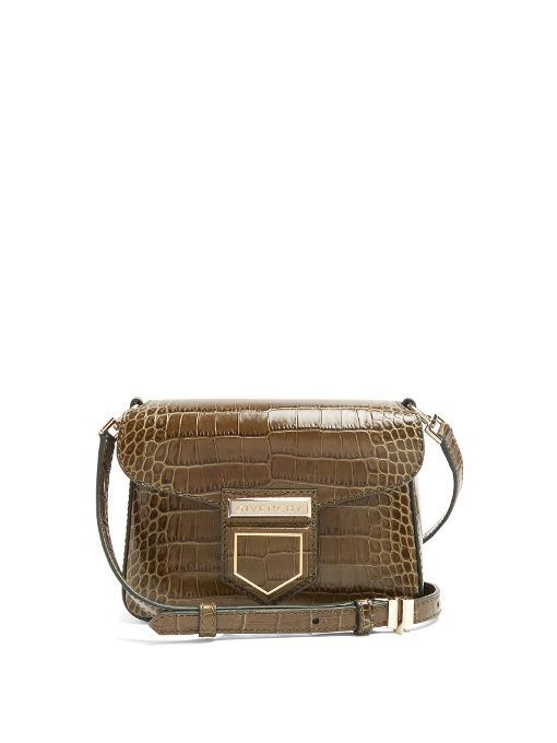 4226eddefc GIVENCHY Nobile Mini Crocodile-Effect Cross-Body Bag.  givenchy  bags   shoulder bags  suede