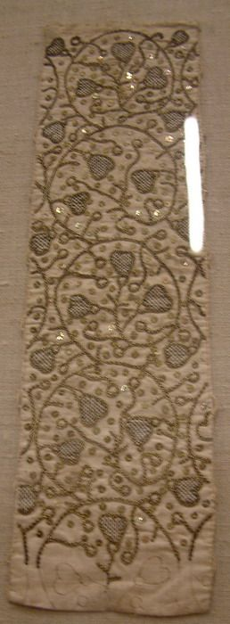 Images of extant XVI century embroidery