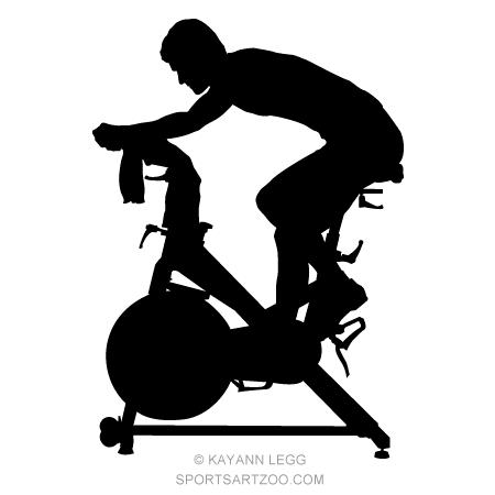 Fitness Spinning Silhouette Spinning Workout Biking Workout