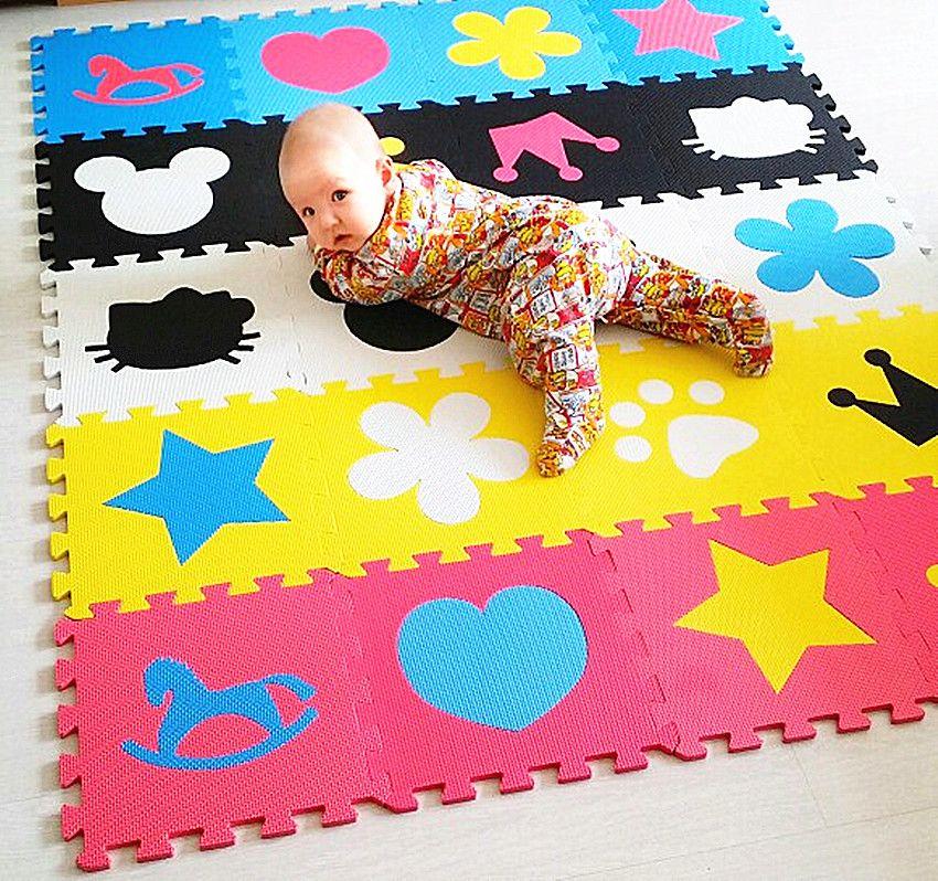 子供のソフト開発クロール敷物、赤ちゃんプレイパズルマット番号 レター 漫画eva発泡マット、パッド床用赤ちゃんゲーム