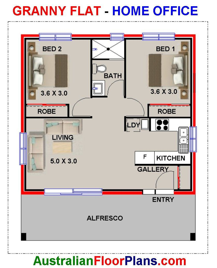 60 Life 700sq foot 60 m2 Living Area / 2 Bedrooms