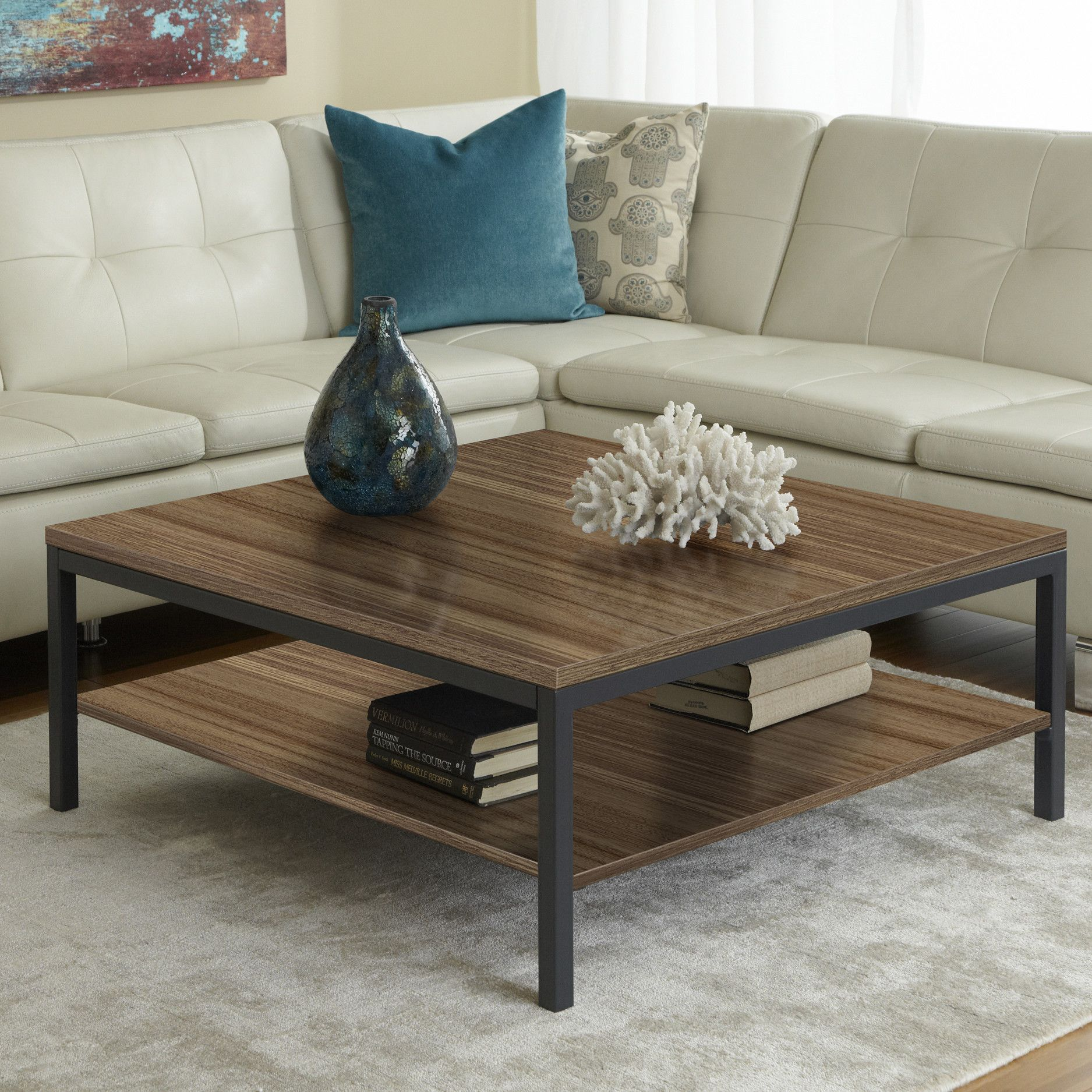 Jesper Office Parson Coffee Table With Shelf | AllModern $299