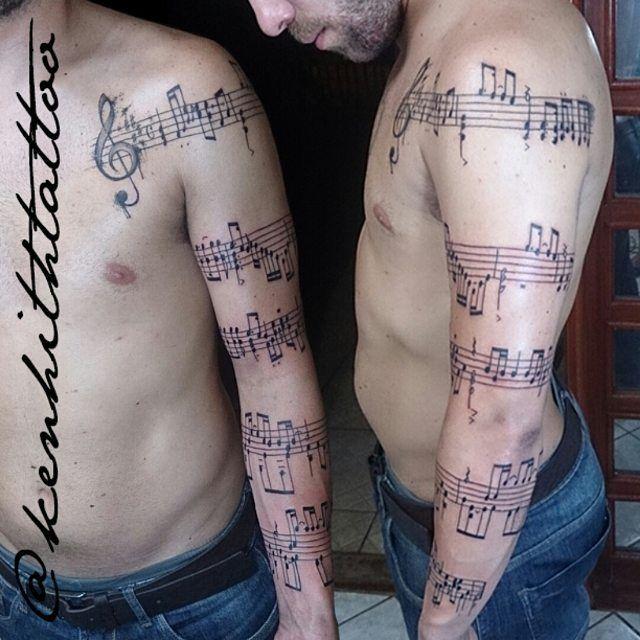 Tatuajes Partituras Musicales tatuagem partitura musical - pesquisa google   new arm   pinterest