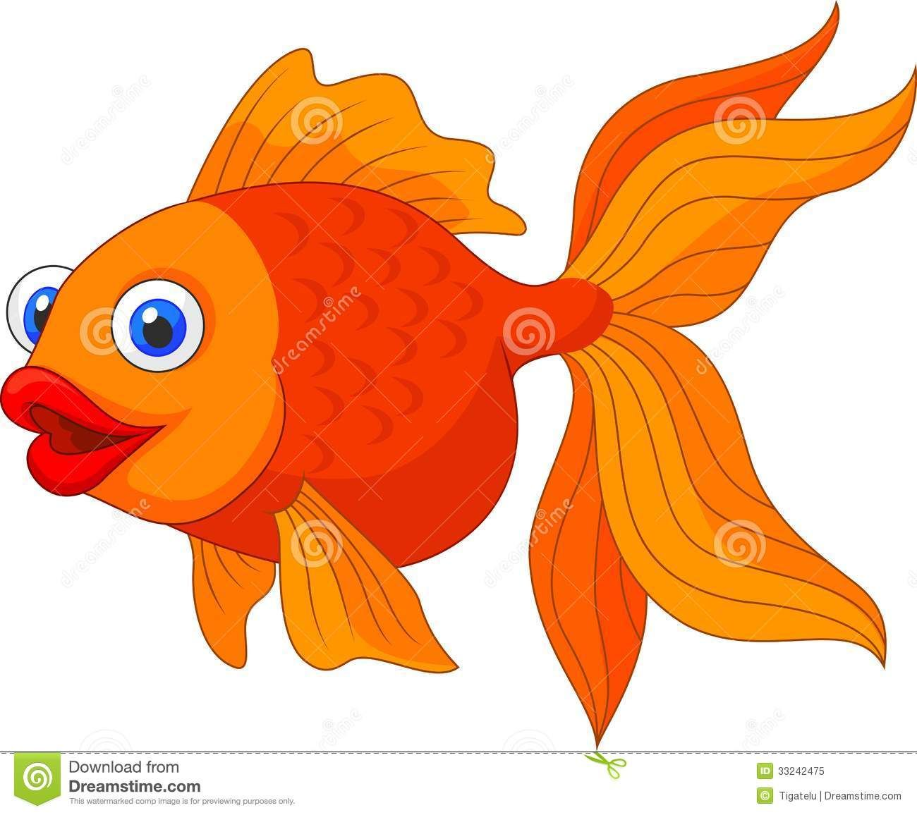 Cute Fish Clip Art | Royalty Free Stock Photo: Cute golden fish ...