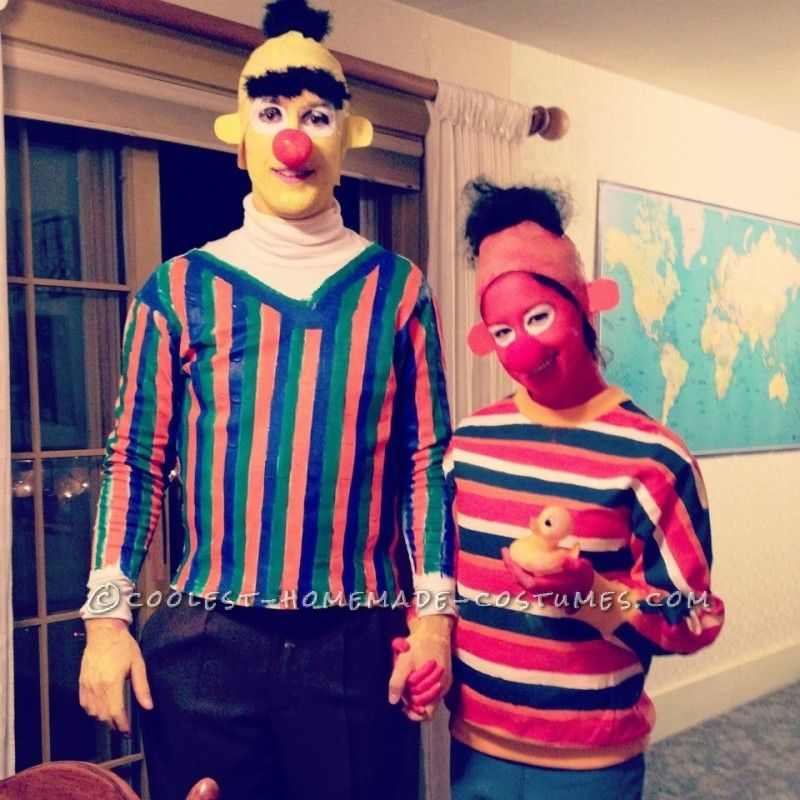 The Best Homemade Bert And Ernie Costumes Ever Hallows Eve