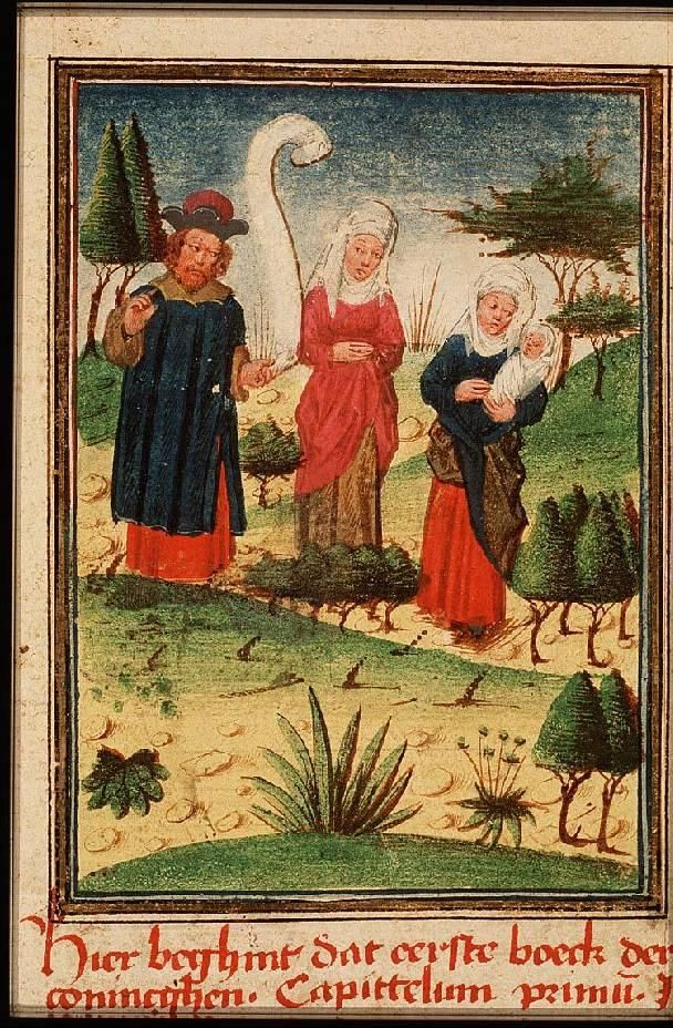 History Bible Place of origin, date: Utrecht, Master of the Feathery Clouds (illuminator); c. 1467