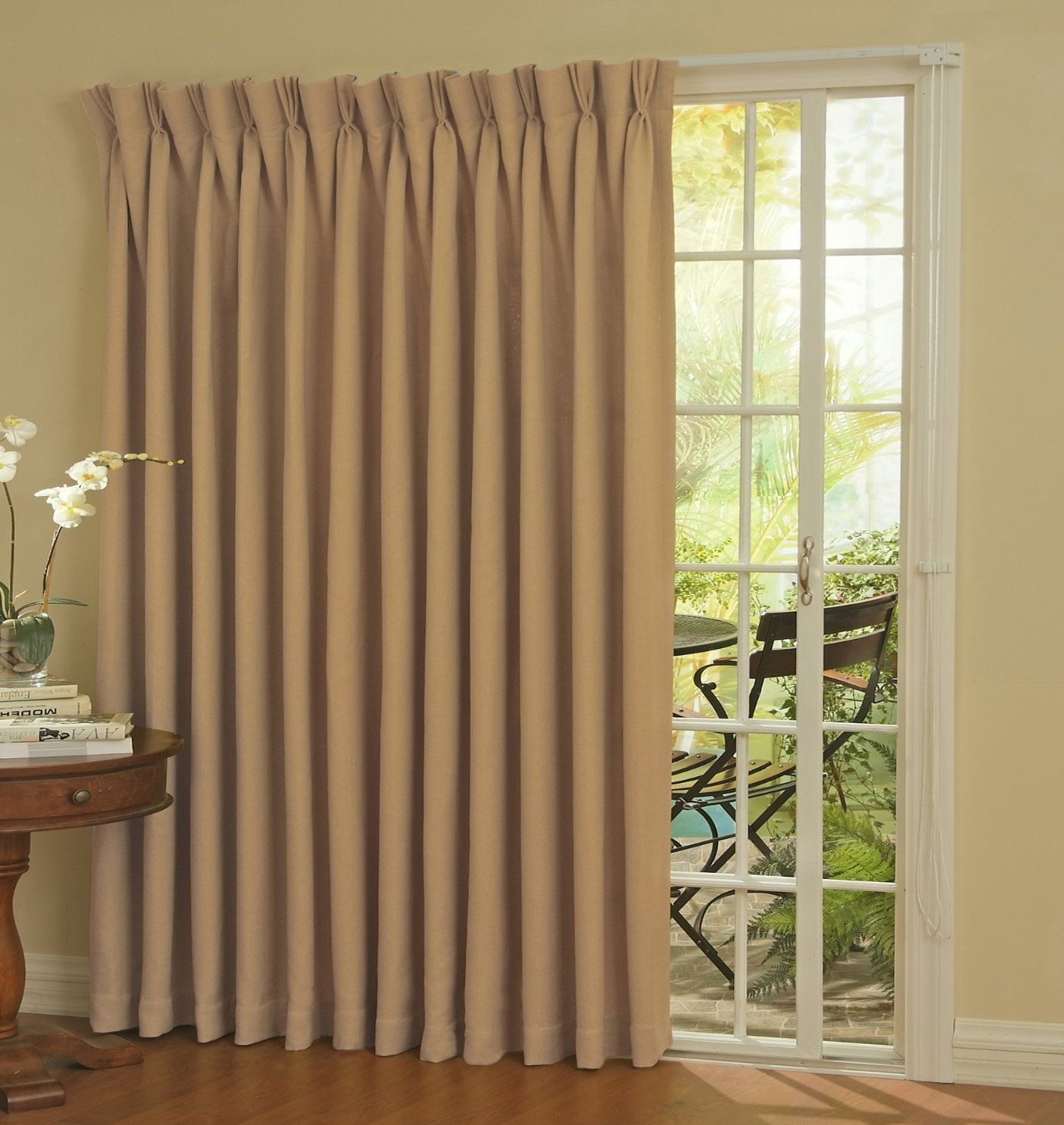 Insulated curtains for sliding glass doors - Eclipse Thermal Blackout Patio Door Curtain Panel Privacy Style And Energy Savings The Ellery Holdings Eclipse Thermal Blackout Patio Door Curtain
