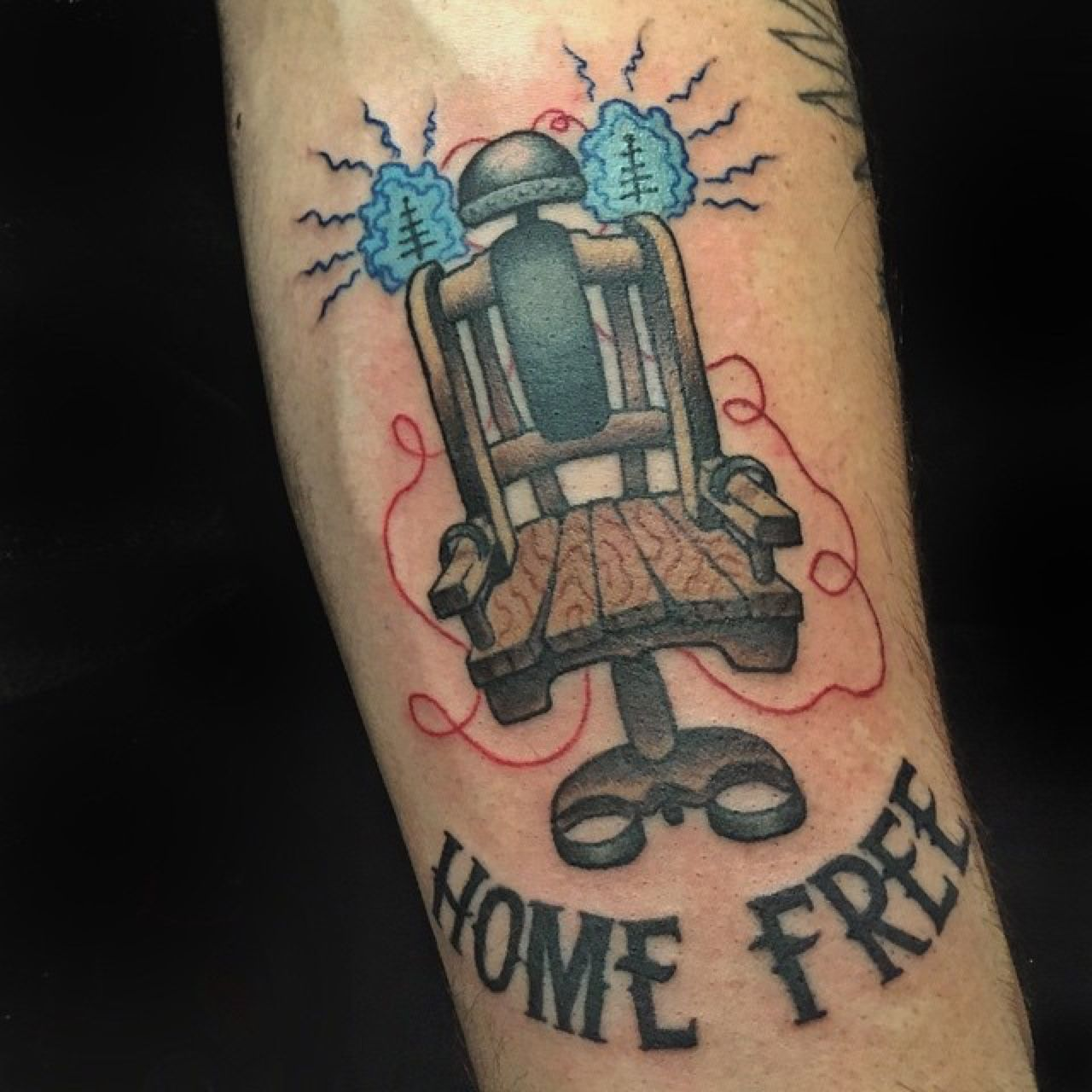 Electric chair tattoo by mike grant saint sabrinas in