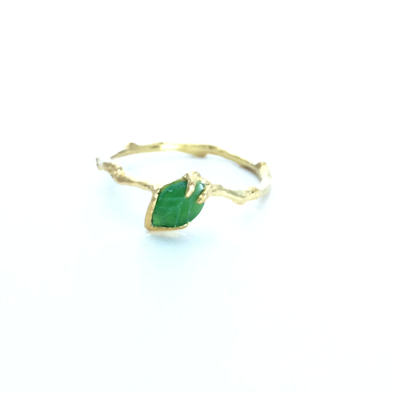 Tourmaline twig ring Nature inspired jewelry