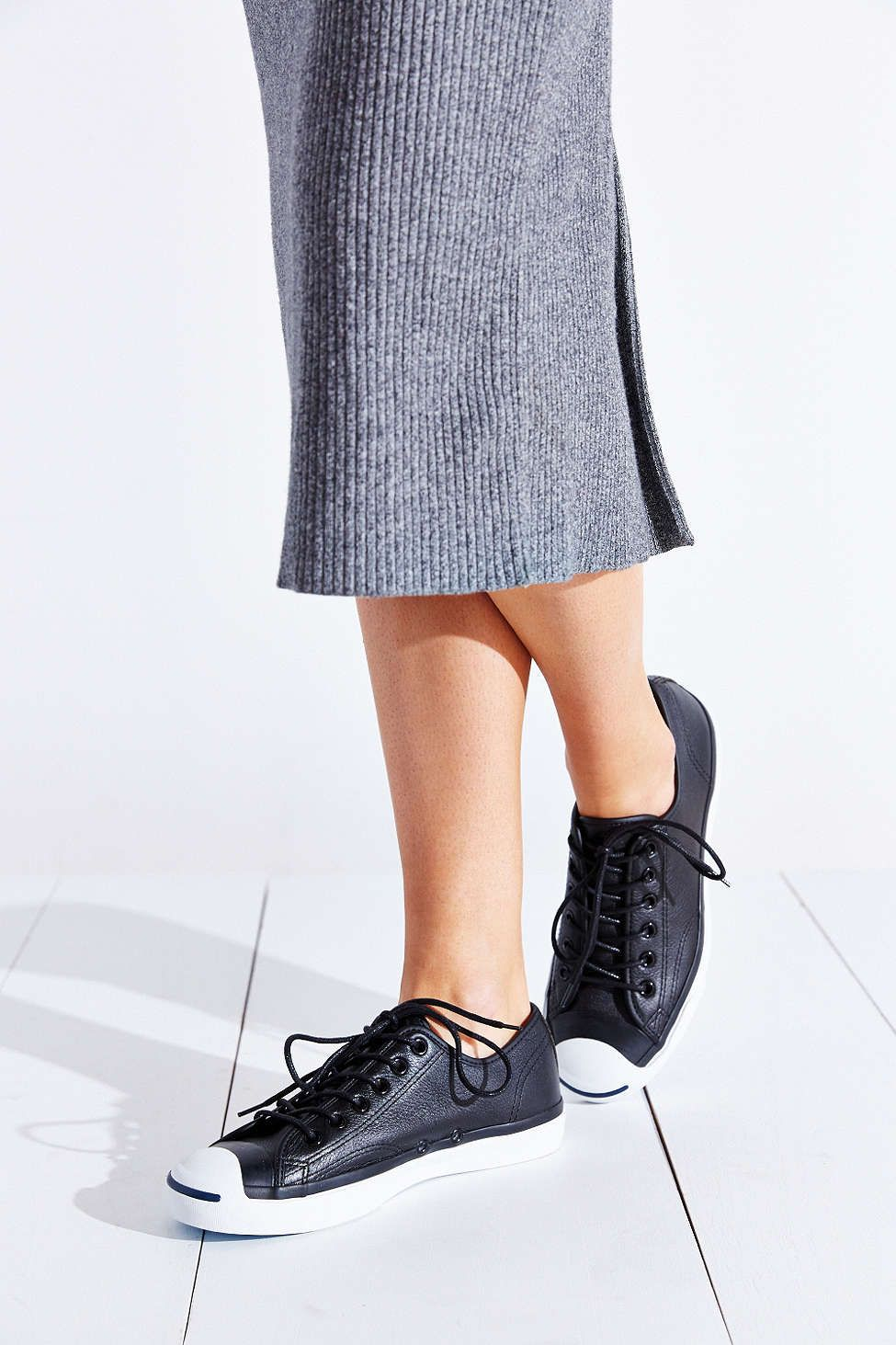 high discount Converse Jack Purcell Tumbled Leather Black