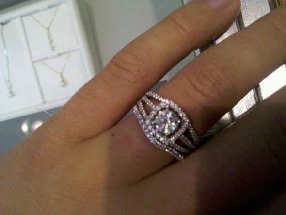 Wedding Band Fits Around Engagement Ring