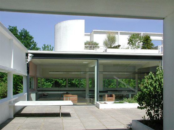 1929 Roofgardens of the Villa Savoye Le Corbusier and Pierre Jeanneret www.bullesconcept.com