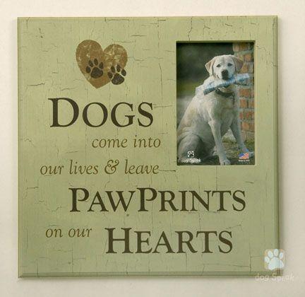 Paw Prints on My Heart Frame | Animal love | Pinterest | Animal
