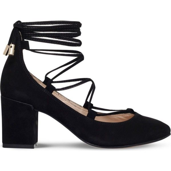 Carvela suede court shoes. Lace-up fastening. Rounded toe, lace-up ...