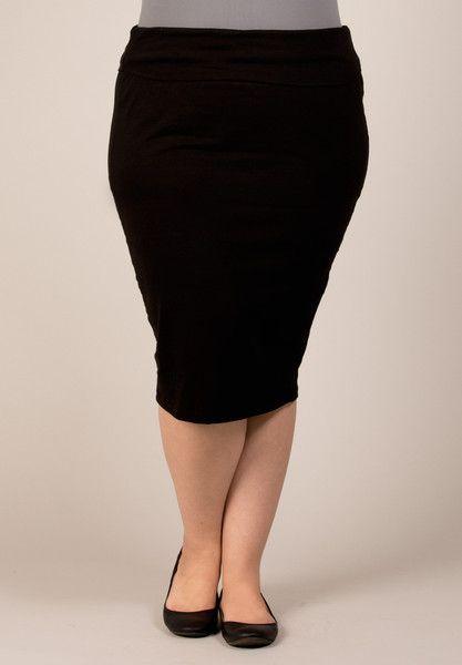 ea19eff6b07 Fawn Plus Size Midi Skirt