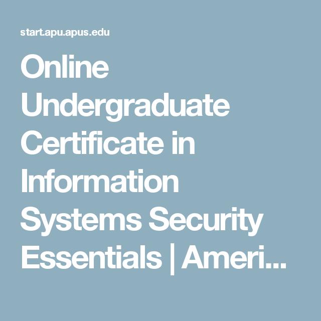 undergraduate computer certificate systems apu apus edu start