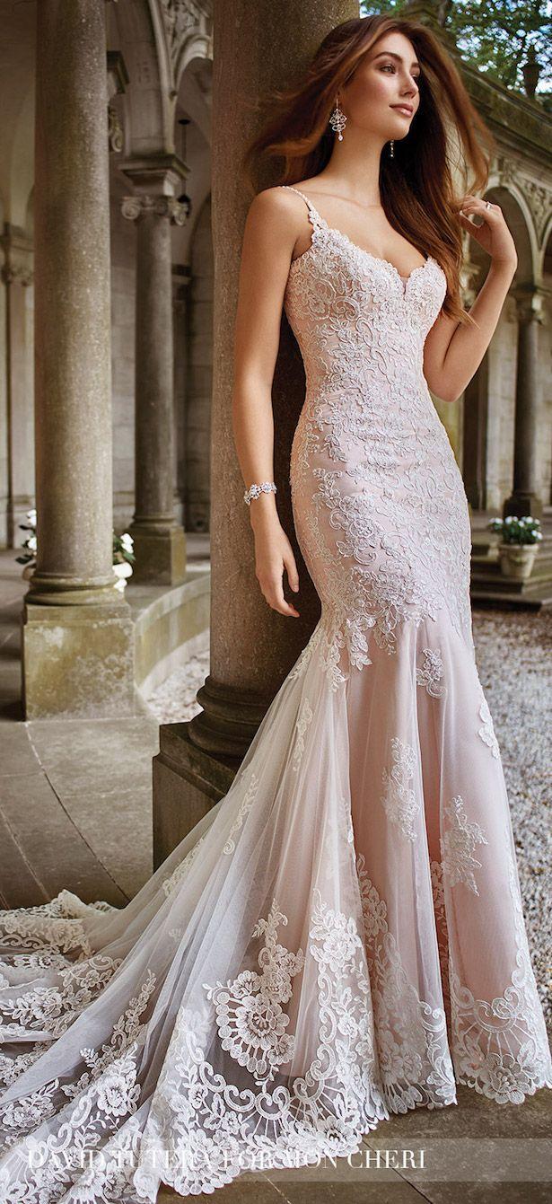 Brown wedding dresses  Wedding Trends Dropped Waistline Bridal Gowns  David tutera