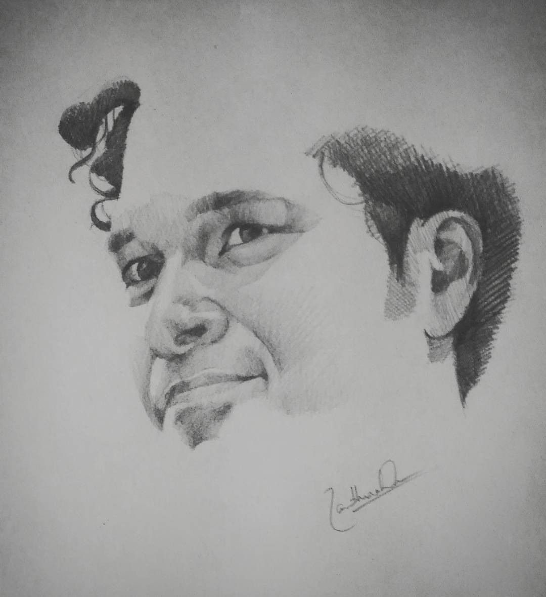 Sachin tendulkar pencil sketch pencil on paper portraits and