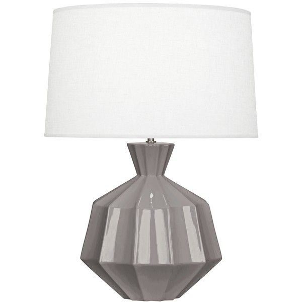 robert abbey orion smokey taupe ceramic table lamp 17135 rub liked on polyvore featuring home lighting table lamps grey grey lamp ceramic lamps - Robert Abbey Lamps