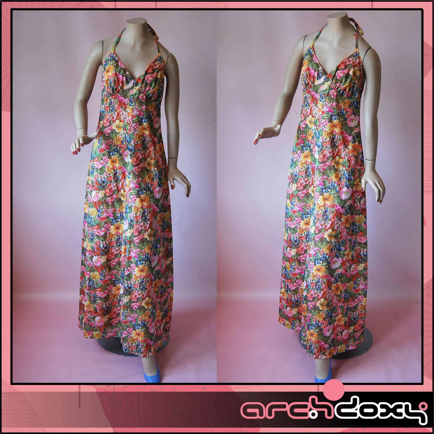 Vintage 1960s Superb Saucy Empire Floral Shaped Bohemian Silky Maxi Dress #vintage  http://www.ebay.co.uk/itm/Vintage-1960s-Superb-Saucy-Empire-Floral-Shaped-Bohemian-Silky-Maxi-Dress-14-/282051571613?ssPageName=STRK:MESE:IT