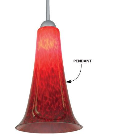 Hang pendants from the rail to brighten work surfaces.    Photo courtesy of Seagull