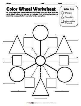 Color Wheel Worksheet & Poster Color wheel worksheet