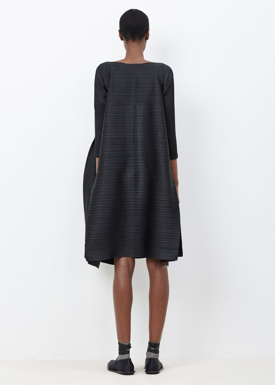 b60618dcfea25 Issey Miyake PLEATS PLEASE Edgy Bounce Dress (Black)