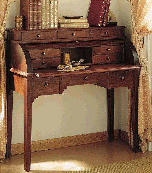 Escritorio bureau con persiana deis mueble para el - Perchero recibidor antiguo ...