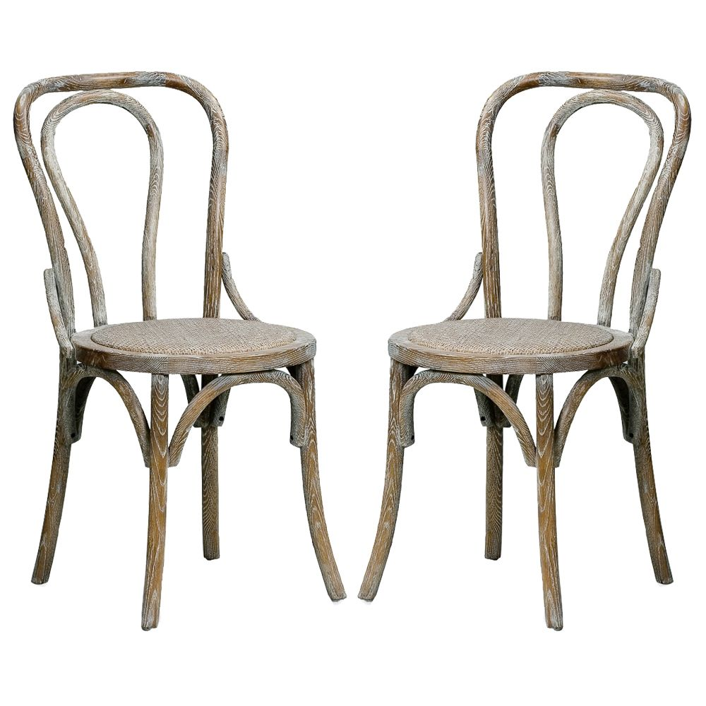 50 Cool And Creative Shabby Chic Dining Rooms: Oak Bentwood Chair Pickled Mult2 - Belle Escape