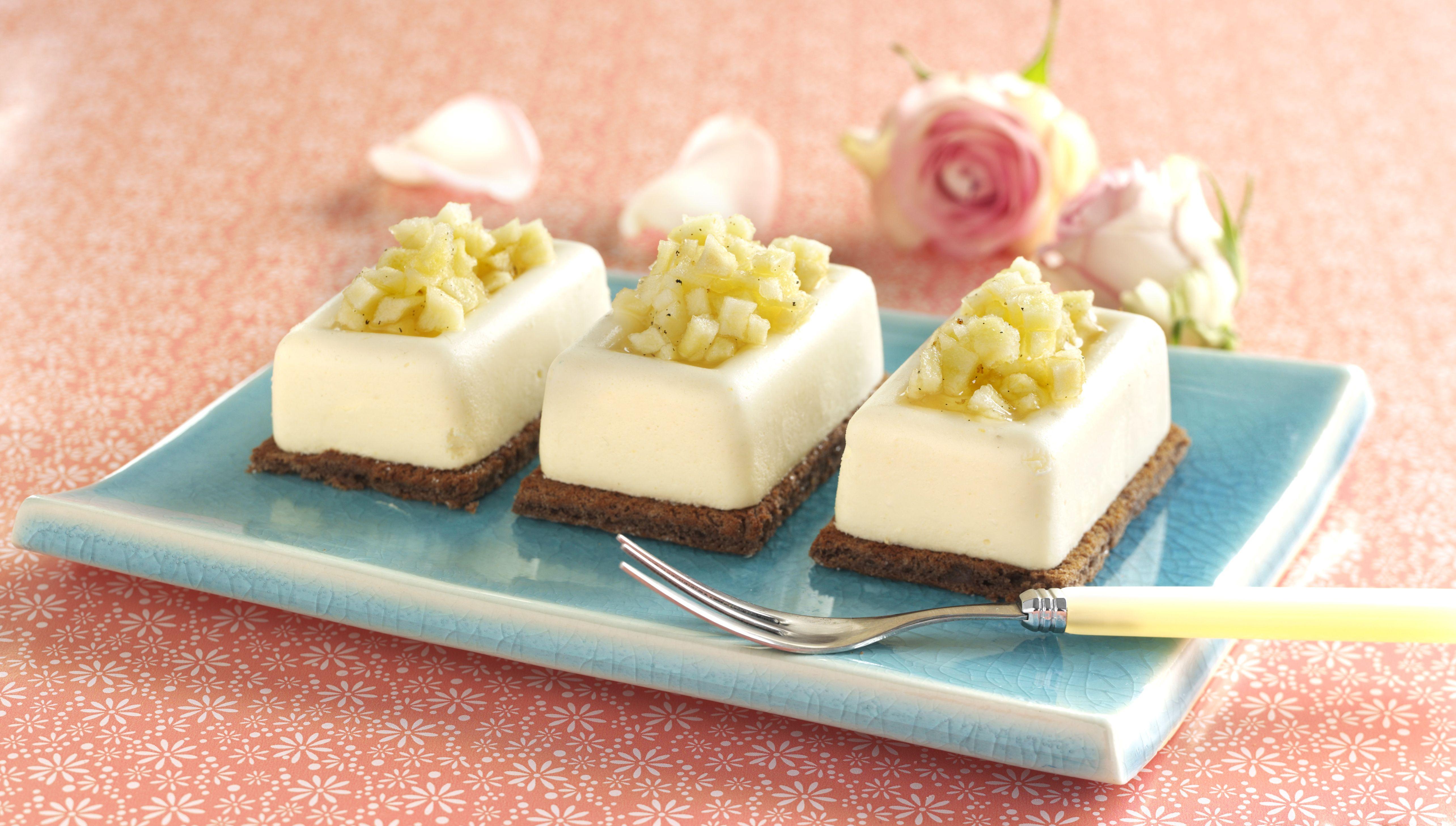 Den hvide chokolademousse kan eventuelt arrangeres på en chokoladebund, men det…