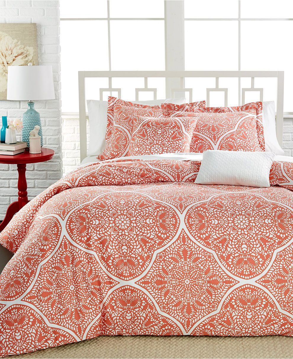Jackie Printed Cotton 5-Pc. Full/Queen Comforter Set - Bed in a Bag - Bed & Bath - Macy's