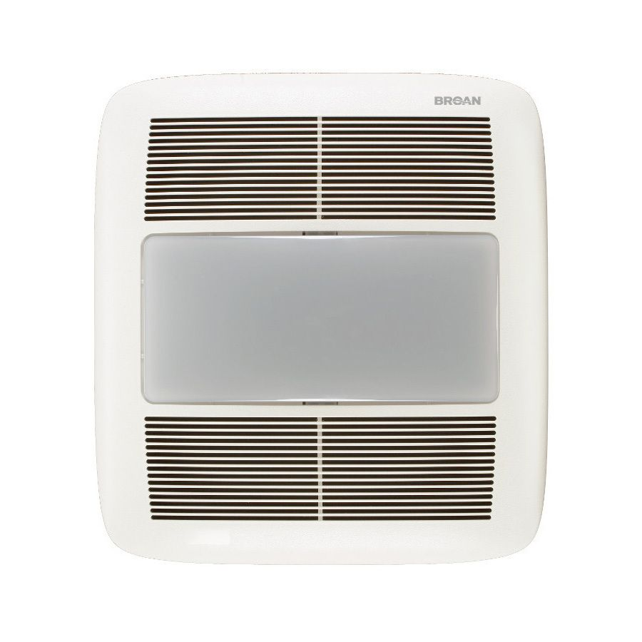 Broan 1.5-Sone 140-CFM White Bathroom Fan with Light ...