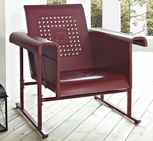 Crosley Veranda Single Glider Chair Coral Red Crosley Http Www Amazon Com Dp B00c3ormum Ref Cm Sw R Pi Dp Wkk Glider Chair Patio Chairs Patio Rocking Chairs