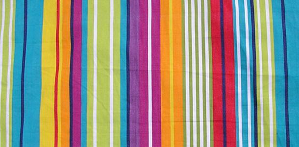 Aerobics Stripe Deckchair Fabric For Alice S Curtains