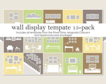 Gallery Wall Template wall display template 15-pack | display, walls and picture