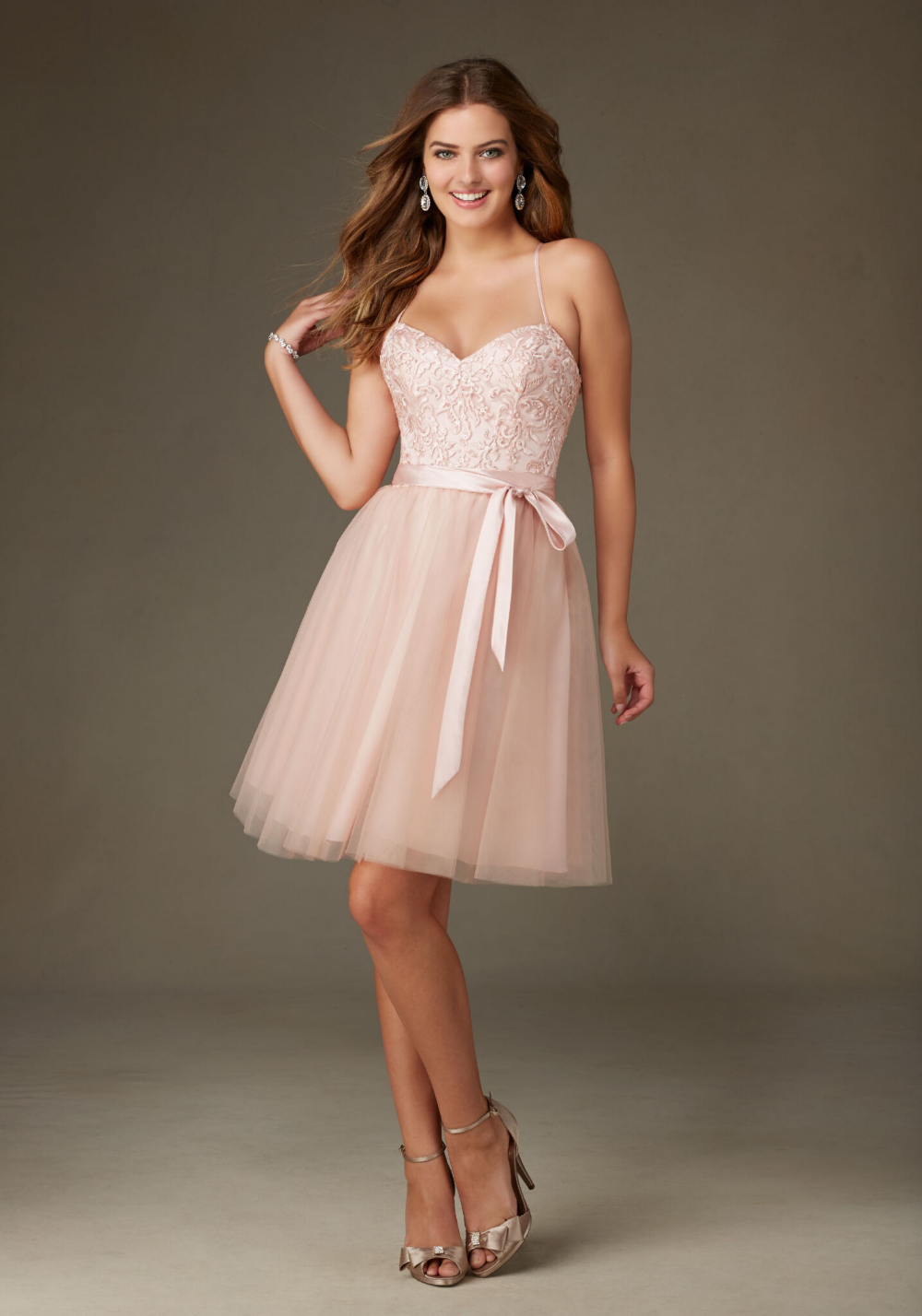 Ballerina Style Short Morilee Bridesmaid Dress In Tulle With Embroidery And Beading Morilee Bridesmaid Dresses Mesh Bridesmaids Dress Ballerina Style Dress [ 1428 x 1000 Pixel ]