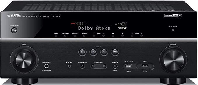 yamaha tsr ch  atmos dts receiver certified refurbished also rh pinterest