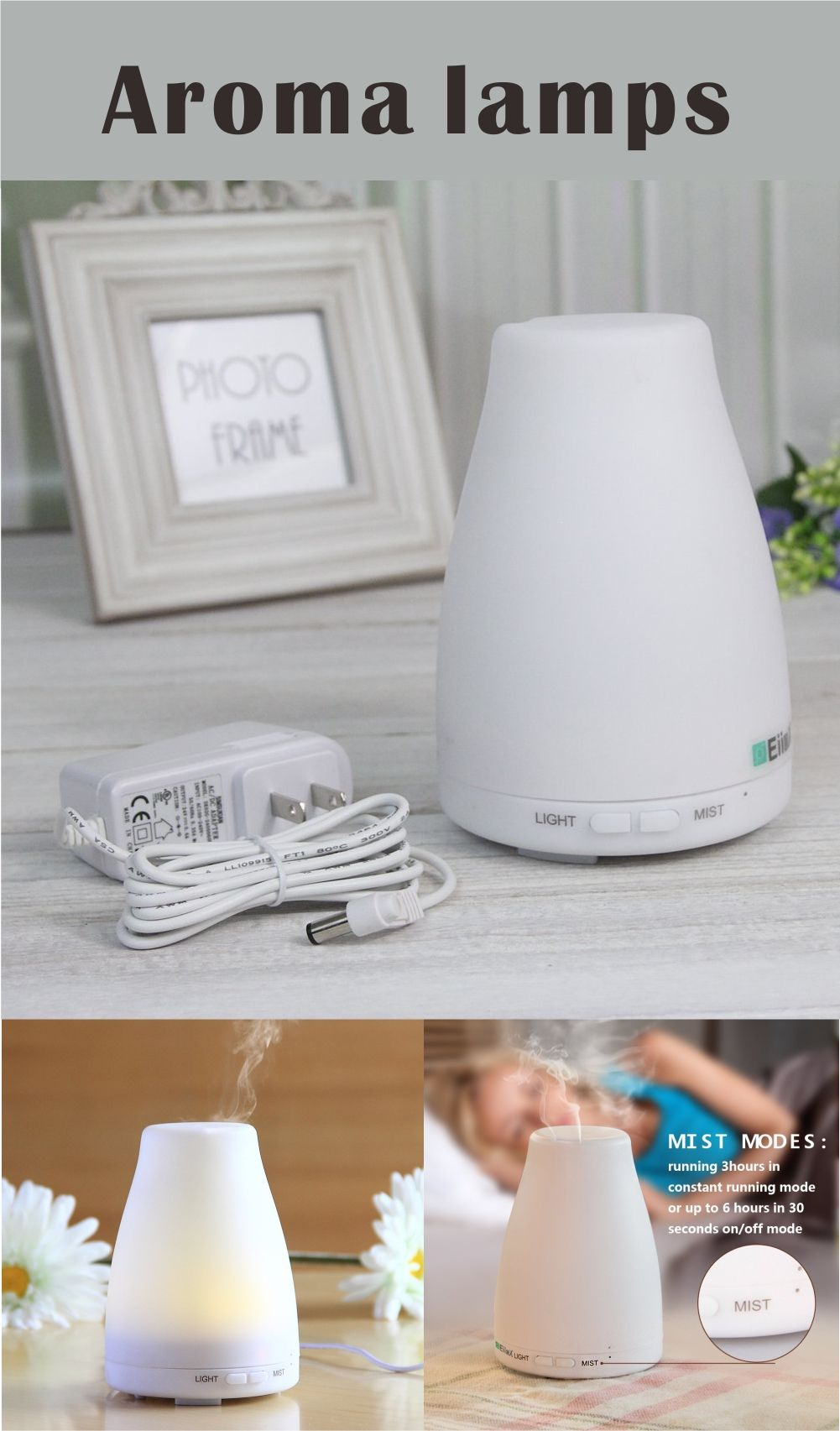 Aroma Air Mist Purifier Cool Humidifier Spa Vapor with
