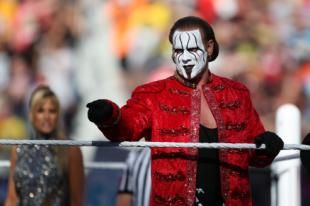 Sting at WrestleMania 31. (AP Images for WWE)