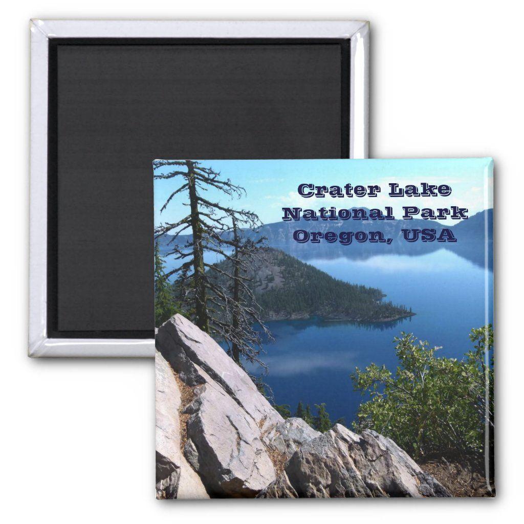 Crater Lake National Park Oregon USA Travel Magnet - Custom Magnets...
